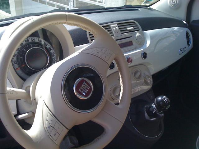 Vend Fiat 500 Lounge Diesel Blanche 43000km
