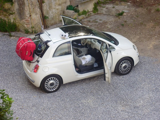 General Roof Racks On A 500 With Glass Roof The Fiat Forum